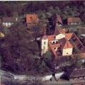 Letecký snímek kostela Svatého ducha